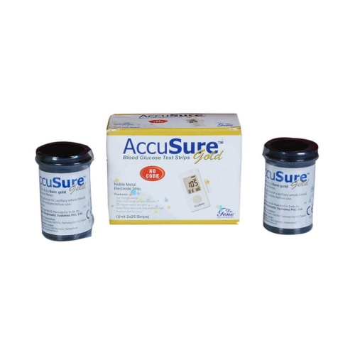 50 Test Strips of Accusure GOLD Blood Glucose Monitor