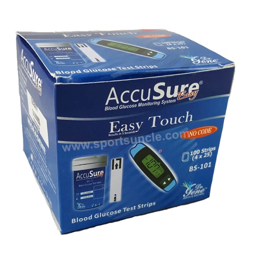 Accusure Easy Touch Strips - 100 Strips