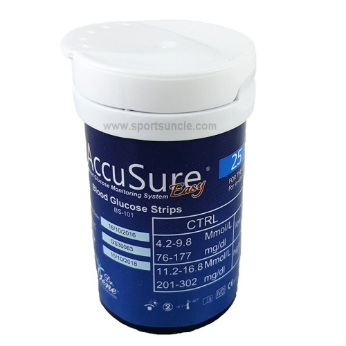 Accusure Easy Touch Strips - 25 Strips Pack