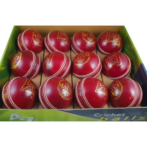 AJ MATCH Balls (Red) - Pack of 12 Balls