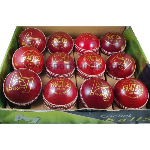 AJ PRACTICE Balls (Red) - Pack of 12 Balls