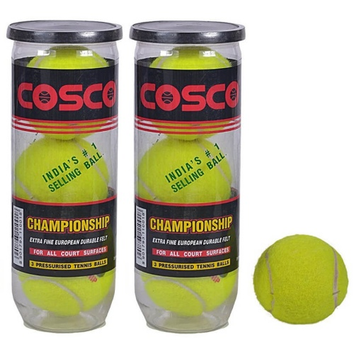Cosco Championship Tennis Ball - Pack of 6 Balls