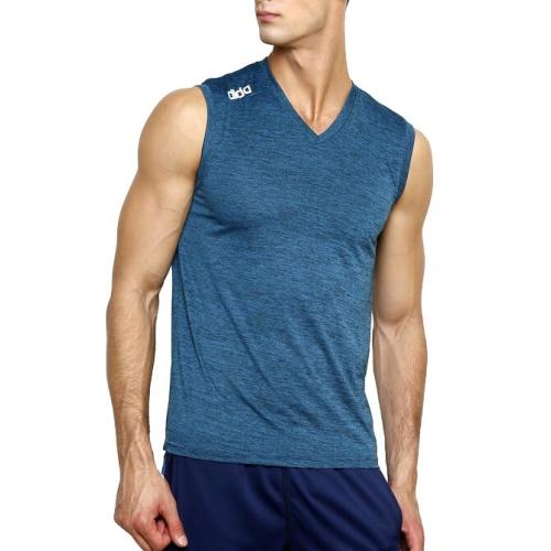 Dida Melange Polyester Cut Sleeve Tshirt