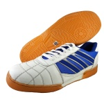 ESS Imported Badminton Shoes - White/Blue/Silver