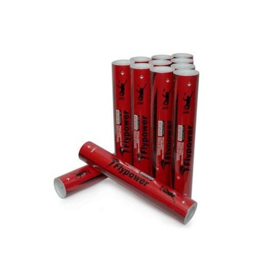 FlyPower DJARUM Red Feather Shuttlecock Pack of 12