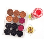 Premium Carrom Wood Coins with Striker and SSS Powder