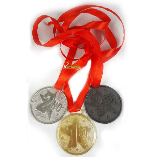 3 Sports Medals - Gold, Silver, Bronze - 2.5 inch