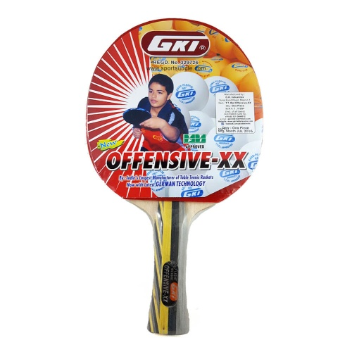 GKI Offensive XX Table Tennis Racket