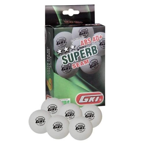 GKI Superb 3 Star ABS 40+ Plastic Table Tennis Ball, Pack of 6