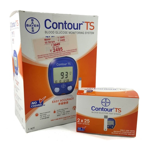 Bayer Contour TS Blood Glucometer with 50 strips