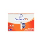 50 Strips of Bayer Contour TS Glucometer