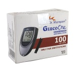 100 Test Strips of Dr. Morepen GlucoOne Sugar Meter (BG-03)