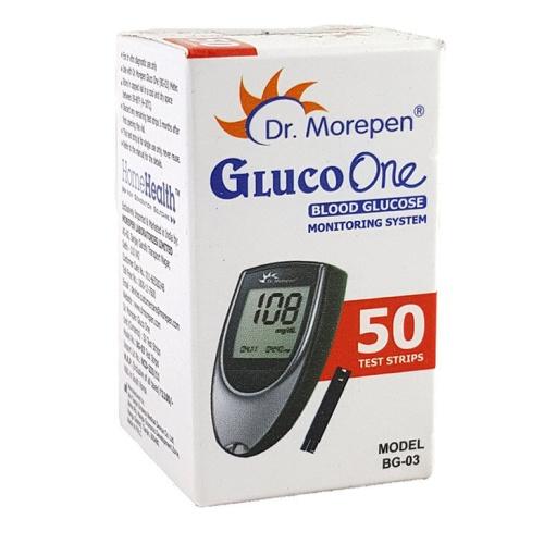50 Test Strips of Dr. Morepen GlucoOne Sugar Meter (BG-03)