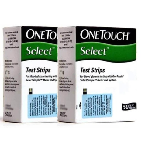 100 Test Strips (50 x 2) for One Touch Select Simple Meter