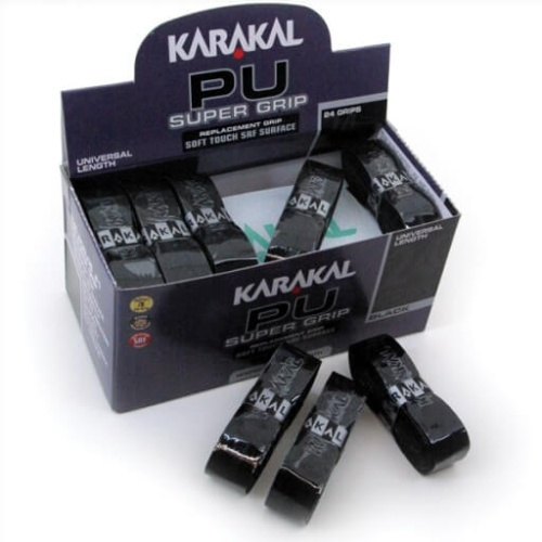 Karakal PU Supergrip BLACK - Pack of 24 Grips