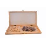 Konex Chess - 32 Wooden Pieces, Wooden Chess Board - 11 x 11 inch