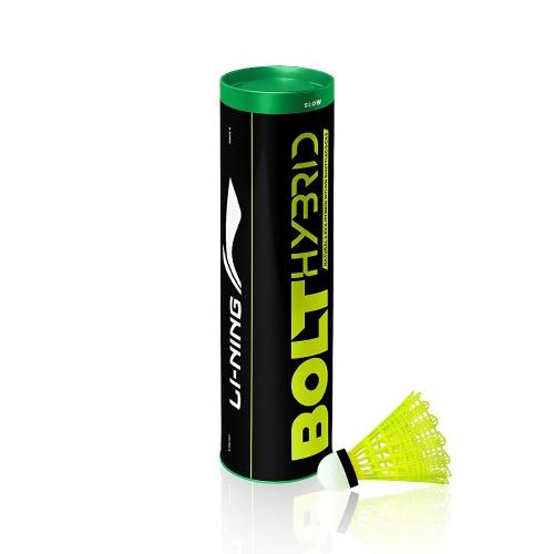 Lining Bolt Hybrid Green Cap Shuttlecock - Yellow