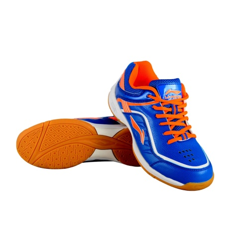 Li-Ning Play Badminton Shoes - Blue/Orange