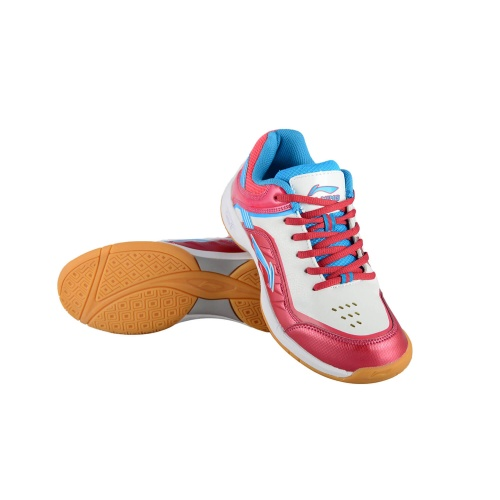 Li-Ning Play Badminton Shoes - White/Fusia