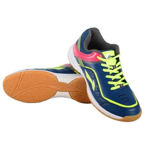 Li-Ning Play Badminton Shoes - Navy/Lime