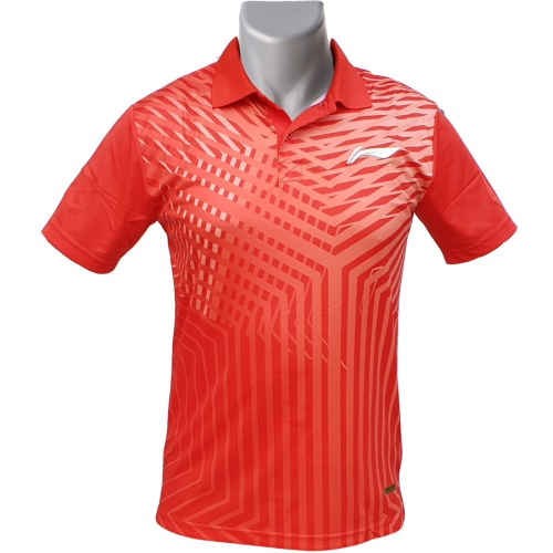 LiNing Collar Turbo Dri Stripes Design Tshirt