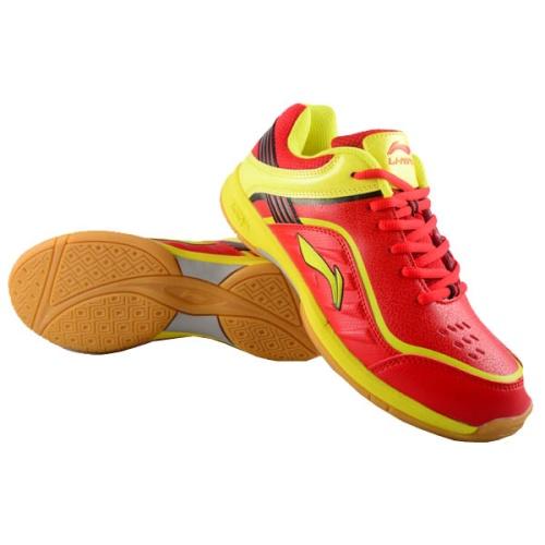 Li-Ning Play Badminton Shoes - Red/Yellow