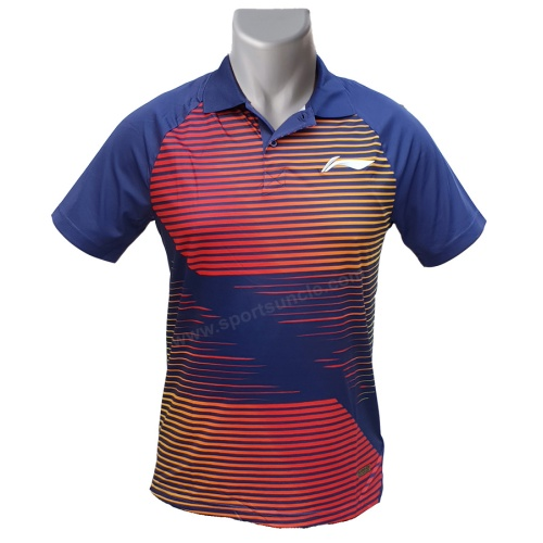 LiNing Collar Turbo Dri Magical Lines Tshirt