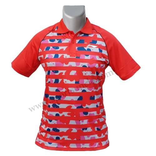 LiNing Polo Bubble Design Sublimation Tshirt