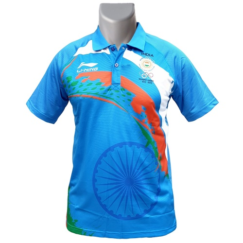 LiNing Patriotism Collar India Tshirt