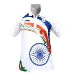 LiNing Patriotism Collar India Tshirt