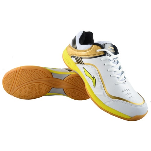 Li-Ning Play Badminton Shoes - White/Gold