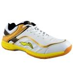 Li-Ning Play Badminton Shoes - White/Gold