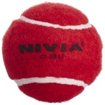 Nivia Heavy Weight Tennis Cricket Ball - Red, Pack of 12