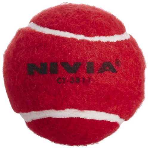 Nivia Heavy Weight Tennis Cricket Ball - Red, Pack of 6
