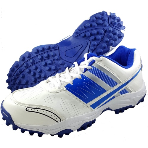 ProASE 007 Pro Stud Cricket Shoes - White/Blue