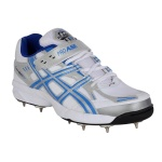 ProASE Complex Spike Cricket Shoes - White/Blue