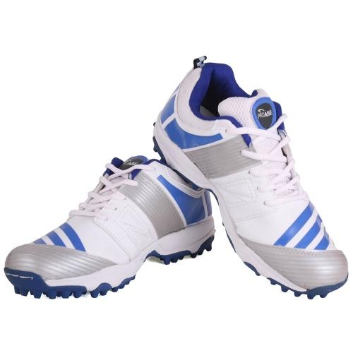 ProASE Stud Cricket Shoes - White/Blue