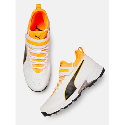 Puma Spike 19.1 Orange Cricket Shoes - IPL 2020 Edition
