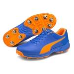 Puma 19.2 Blue-Orange Cricket Spikes shoes