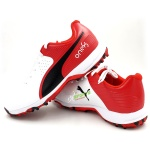 Puma 19 FH Rubber Cricket Shoes - Red
