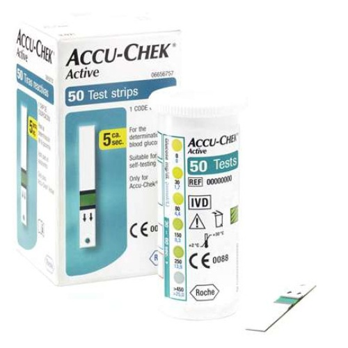 50 Strips for Accu Chek Active Sugar Monitor