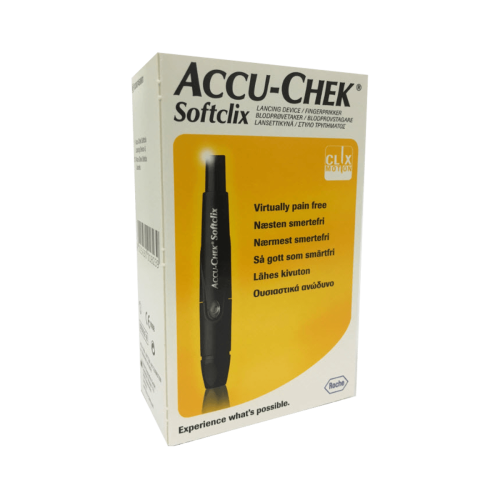 Accu Chek Softclix Lancing Device with 25 Lancets Inside