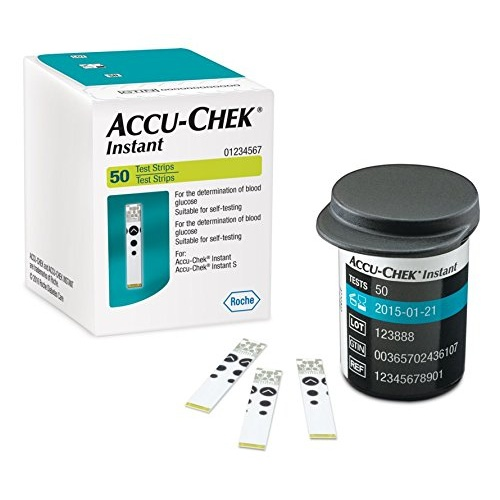 50 Test Strips for Accu Chek Instant