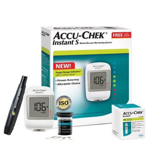 Accu Chek Instant S Meter with 10 Free Test Strips