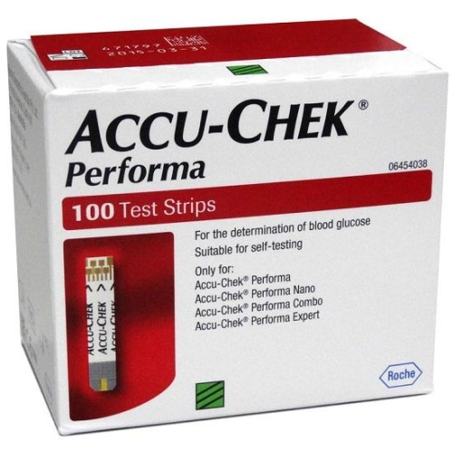 100 Test Strips for Accu Chek Performa Sugar Monitor
