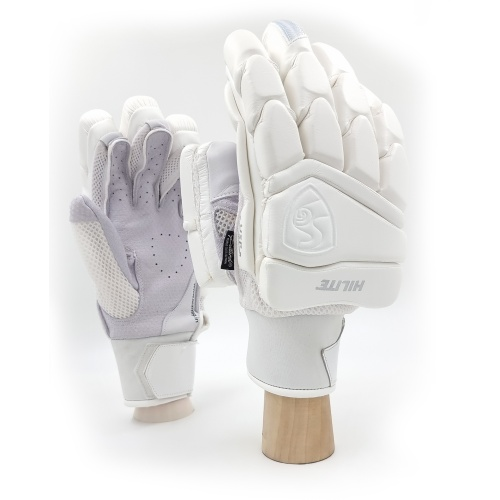 SG Hilite White Cricket Batting Gloves