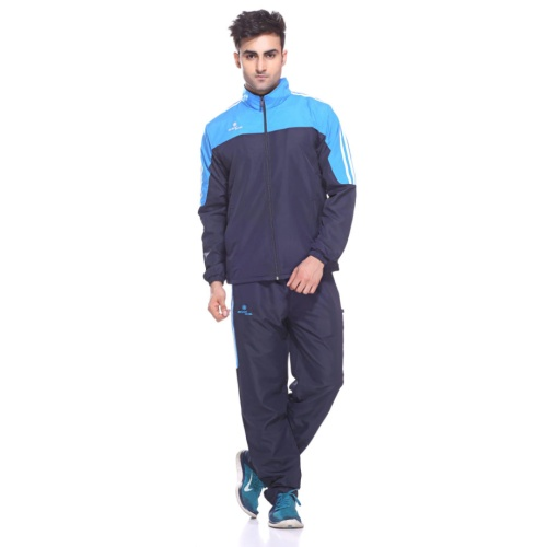 Sport Sun Navy-Firozi Printed Track Suit