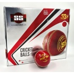 SS True Test Cricket Balls, Pack of 12 - Red