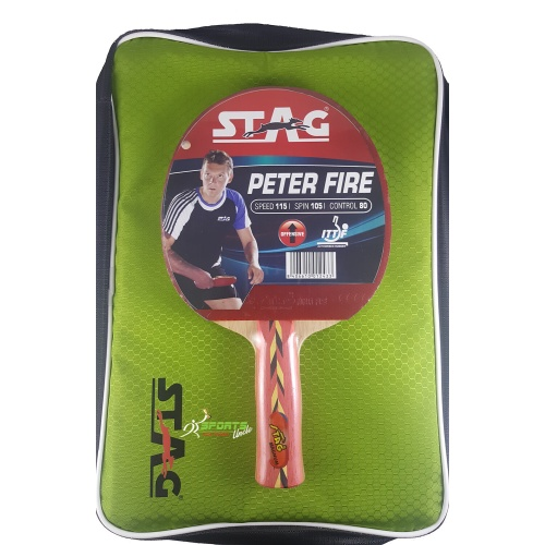 Stag Peter Fire Table Tennis Racquet (I.T.T.F. Approved)