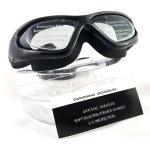 Swimming Goggles with Plastic Case - Adult Antifog, UV Protection